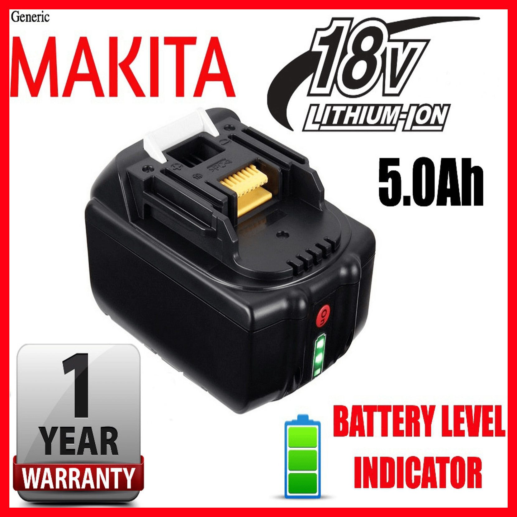 Flat Battery Indicator Makita 18v 50ah Bl1850 Charge Shop Sussex